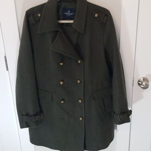 American eagle peacoat, with army flare